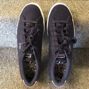 Puma Shoes - PUMA Men's Basket Classic Embossed Wool Sneakers